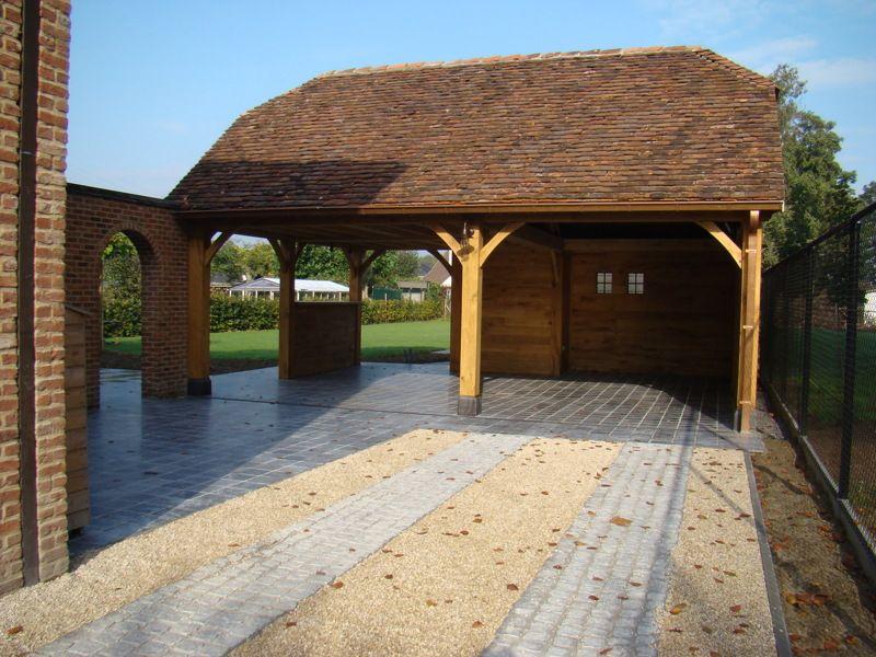 Houten carport op maat | Carports modern & landelijk in eikenhout