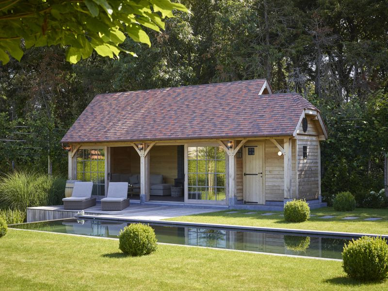 Poolhouse in eik te Wielsbeke