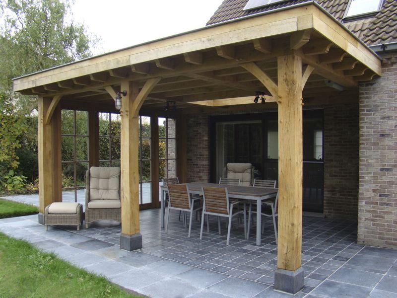 Realisaties overdekt terras in hout eiken bijgebouwen op maat - Overdekt terras in hout ...