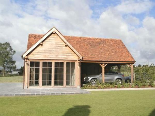 Poolhouse & carport Wortegem-Petegem